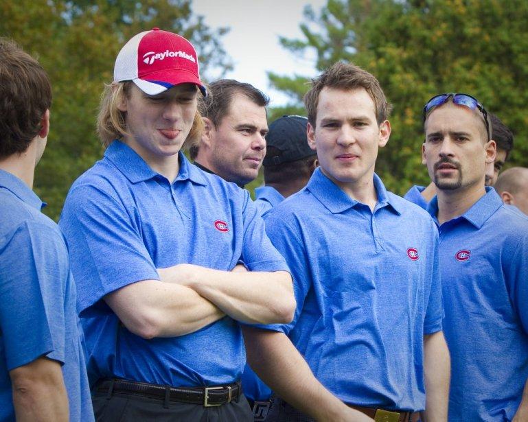 Ryan White, Yannick Weber et Tomas Plekanec | 14 septembre 2011