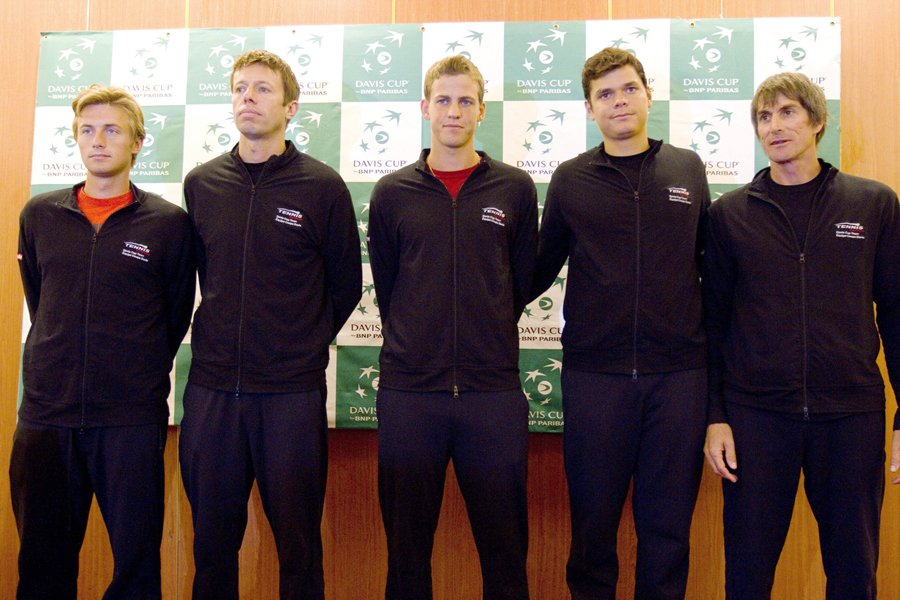 L'équipe canadienne de Coupe Davis: Peter Polansky, Daniel... (Photo: AP)