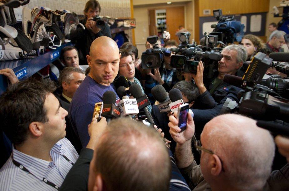Andrei Markov s'est adressé aux journalistes pour faire le point sur son état de santé. | 16 septembre 2011