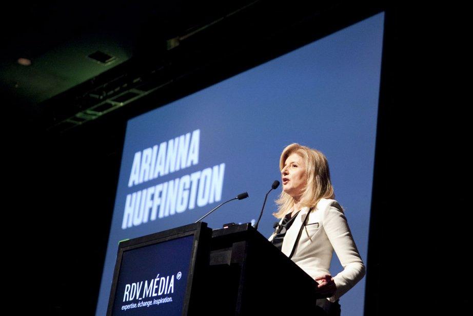 Arianna Huffington au 3e RDV Média, à Montréal,... (Photo: Marco Campanozzi, La Presse)