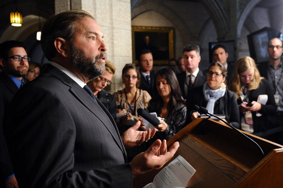 Le leader parlementaire du NPD, Thomas Mulcair, en... (Photo: PC)