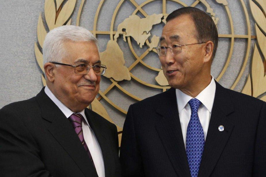 Le président de la Palestine Mahmoud Abbas et... (Photo: Jessica Rinaldi, Reuters)