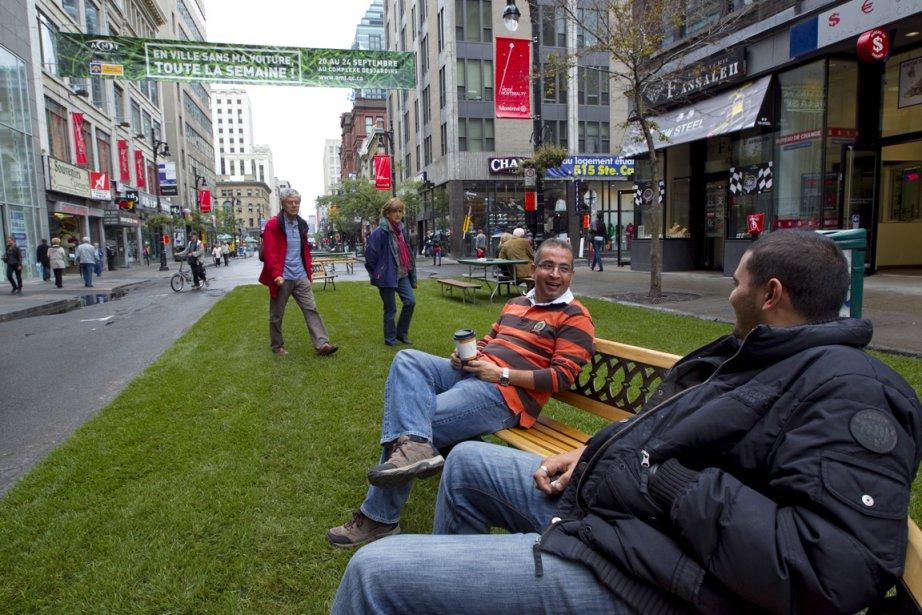 En ville sans ma voiture, à Montréal, en... (Photo: Alain Roberge, Archives La Presse)