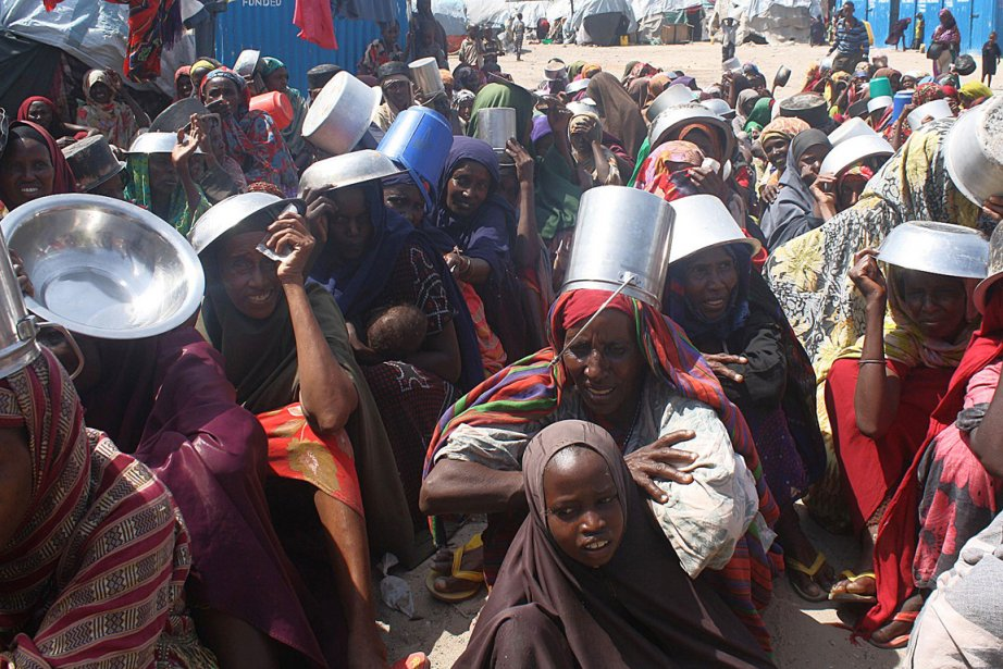 L'ONU estime qu'une aide alimentaire est acheminée aujourd'hui... (Photo: Abdurashid Abikar, AFP)