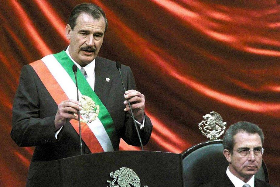 L'ancien président mexicain Ernesto Zedillo (à droite) est... (Photo d'archives La Presse)