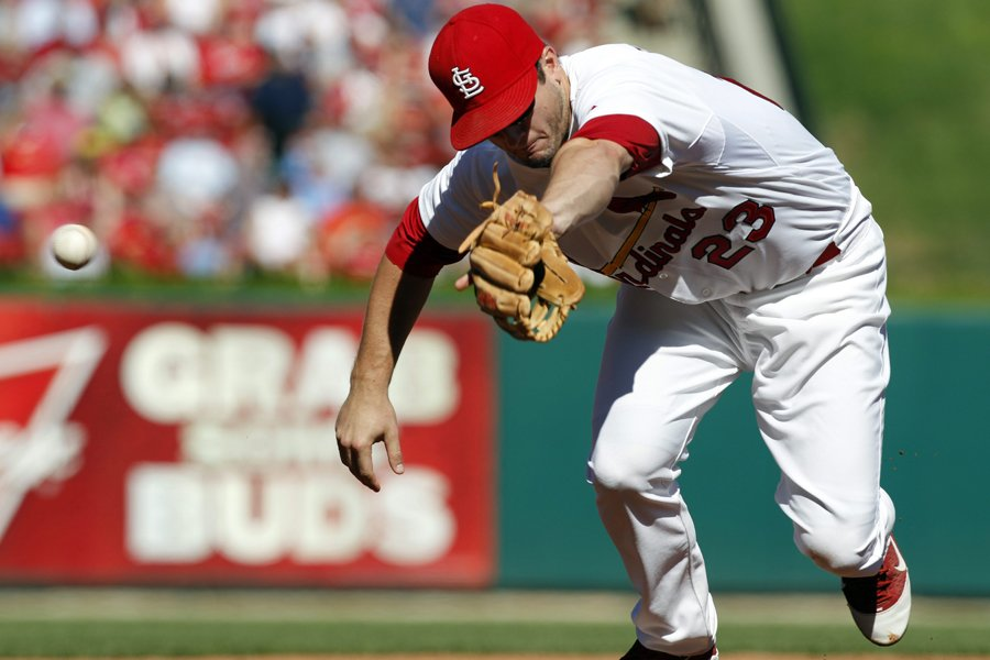 David Freese a produit quatre points avec un... (Photo: AP)