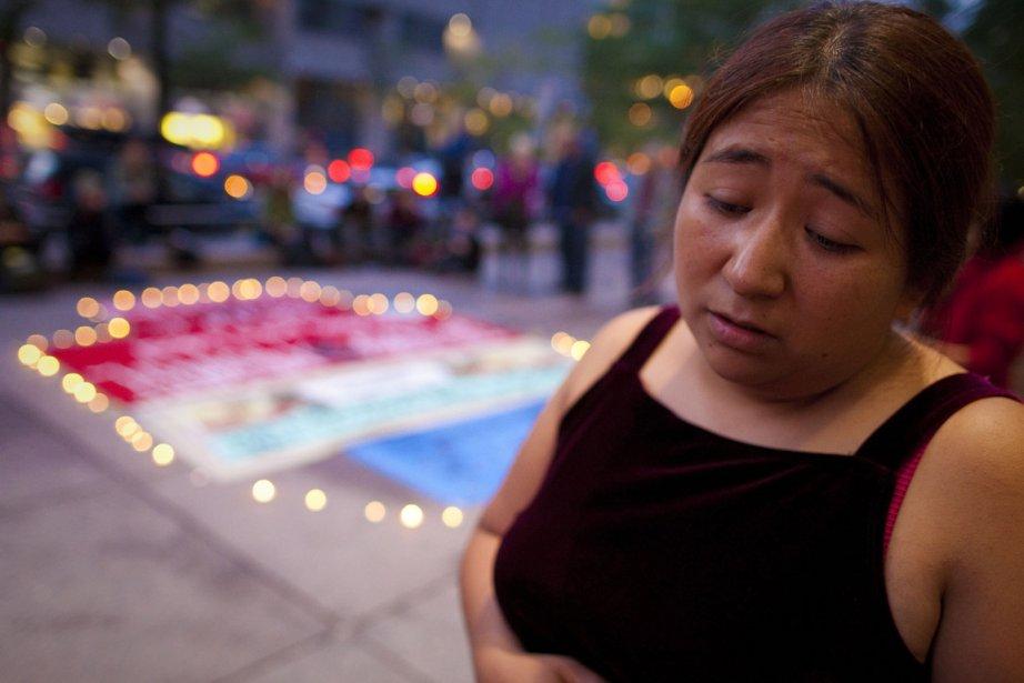 La Mexicaine Paola Ortiz lors d'un ultime rassemblement... (Photo: André Pichette, La Presse)