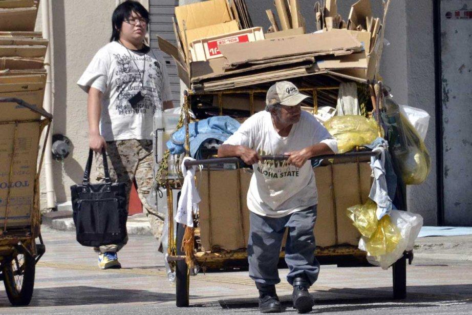 Le visage de la pauvreté au Japon.... (Photo AFP)