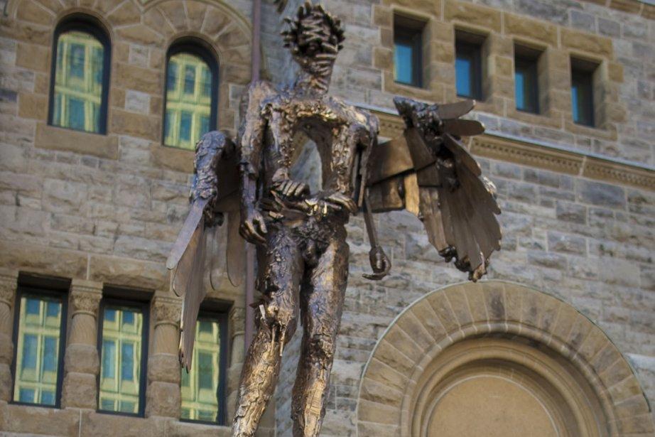 La première sculpture en bronze de l'artiste montréalais... (Photo: André Pichette, La Presse)