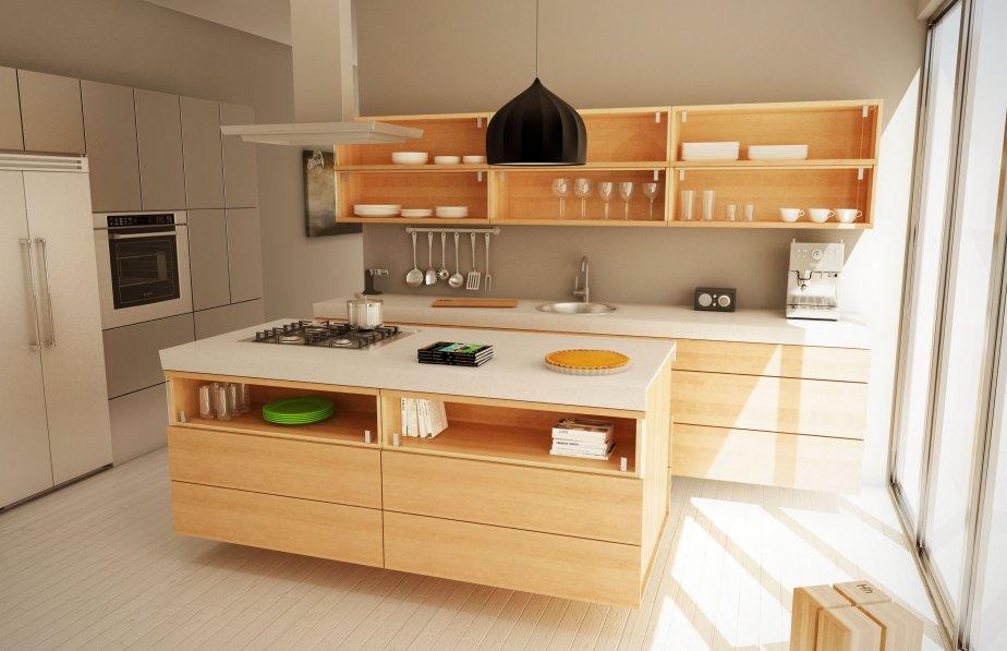 Une cuisine en bois signée À hauteur d'homme.... (Photo: À Hauteur d'homme)