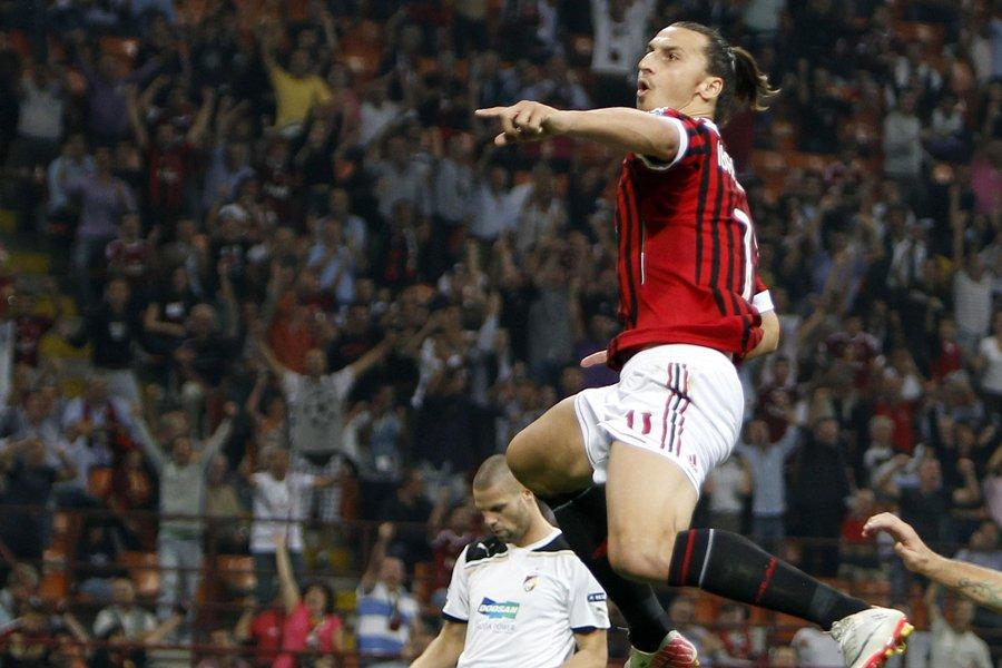 Zlatan Ibrahimovic a animé les partisans de l'AC... (Photo: Reuters)