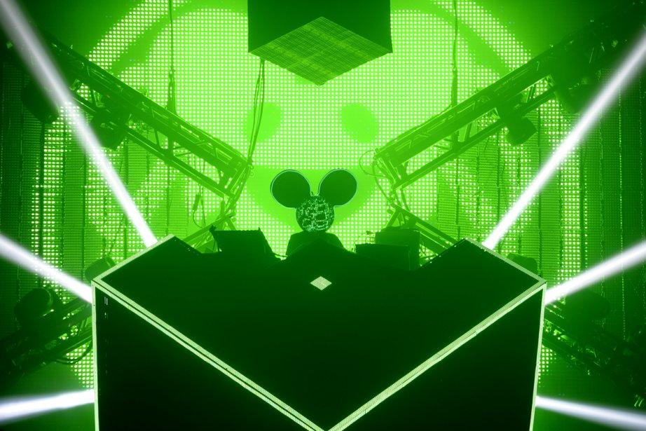 Deadmau5 lors d'un spectacle au Métropolis.... (Photo: Bernard Brault, La Presse)