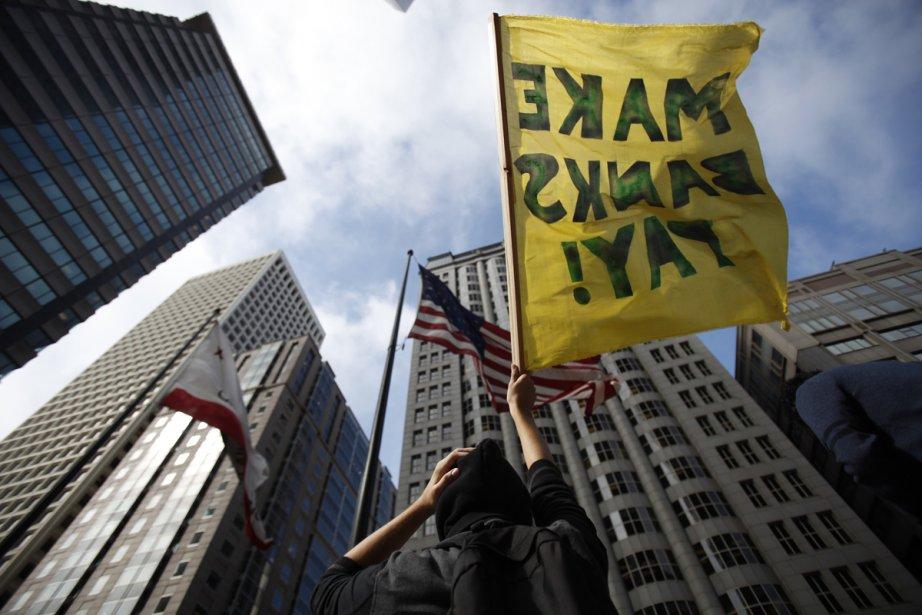 Les manifestants du mouvement Occupy Wall Street manifestent... (Photo: Stephen Lam, Reuters)