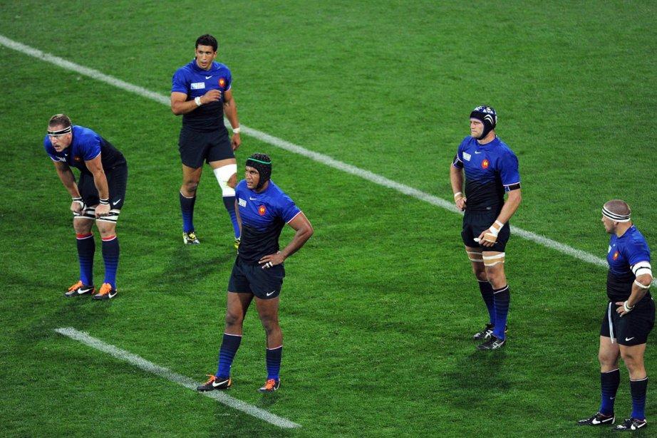 La France, balayée par les All Blacks (37-17)... (Photo: AFP)