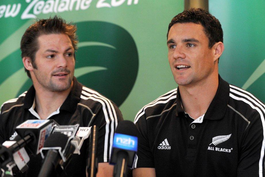 Des All Black de la Nouvelle-Zélande, le demi... (Photo: AFP)