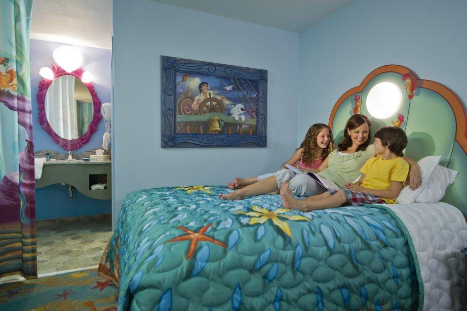Une des chambres de l'hôtel Art of Animation... (Photo: fournie par Disney)