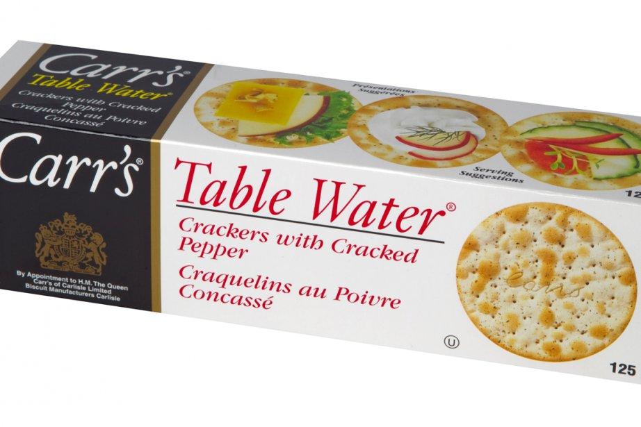 Craquelins au poivre concassé Table Water, Carr's... (Photo: Alain Roberge, La Presse)