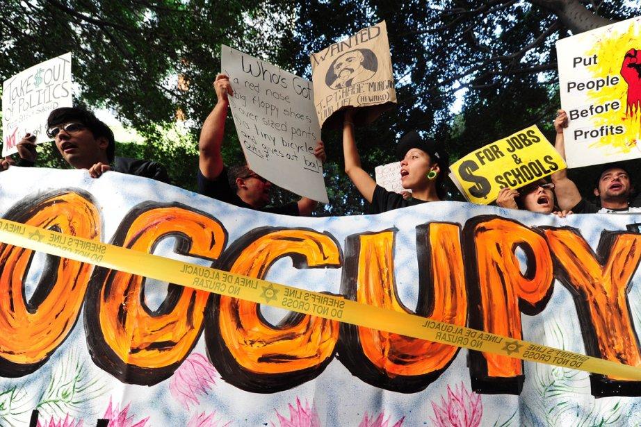 Le mouvement «Occupy Wall Street», entré dans sa... (Photo AFP)
