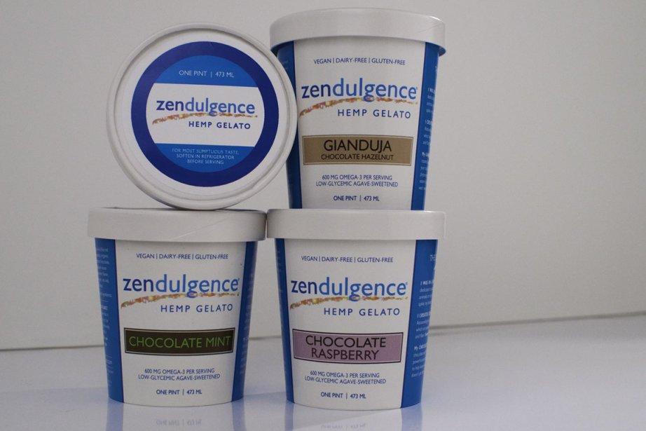 La crème glacée au chanvre Zendulgence  a... (Photo: AFP)