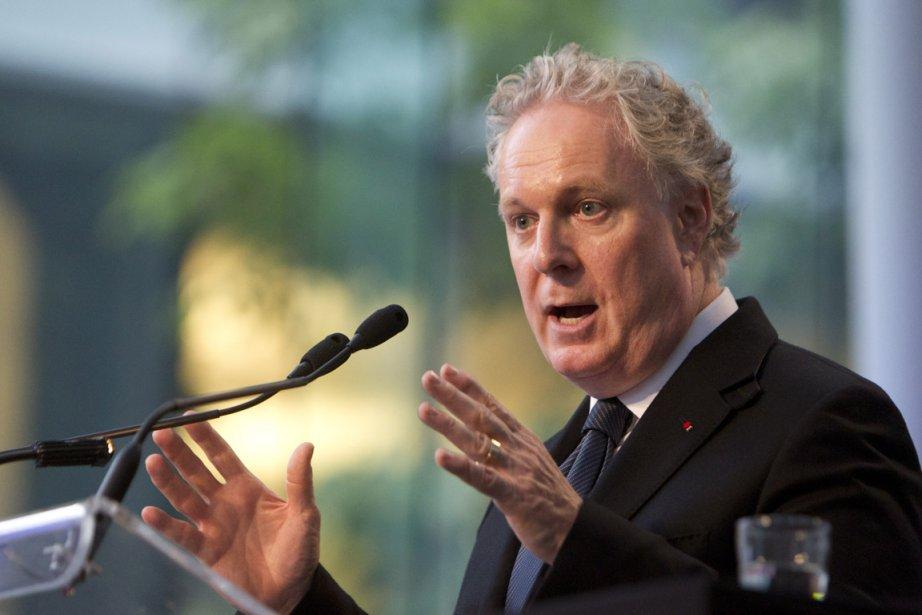 Jean Charest souligne que le gaz de schiste... (Photo: Robert Skinner, La Presse)