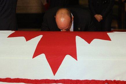 Le député britanno-colombien Nathan Cullen aux funérailles de... (Photo: PC)