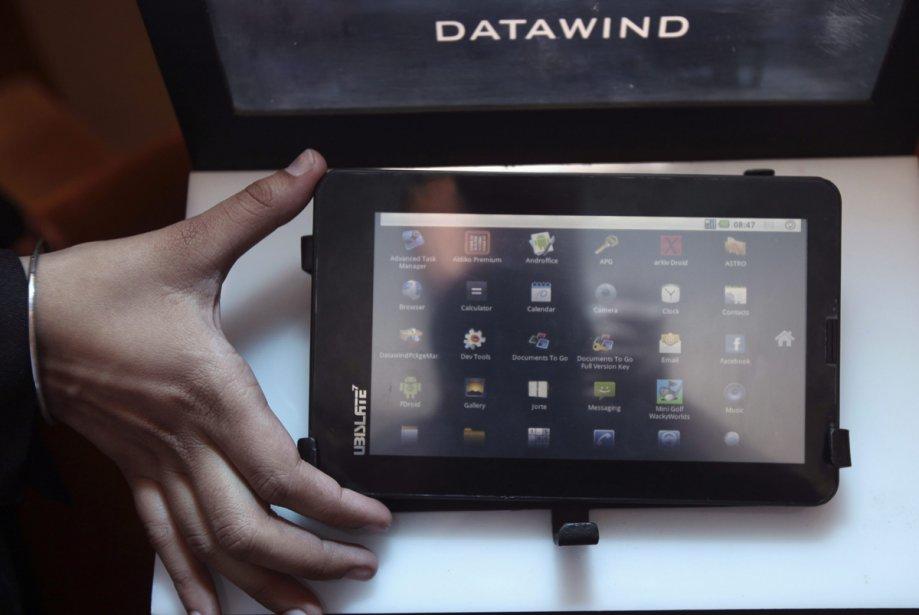 La tablette fabriquée par DataWind a été dévoilée... (Photo: AP)