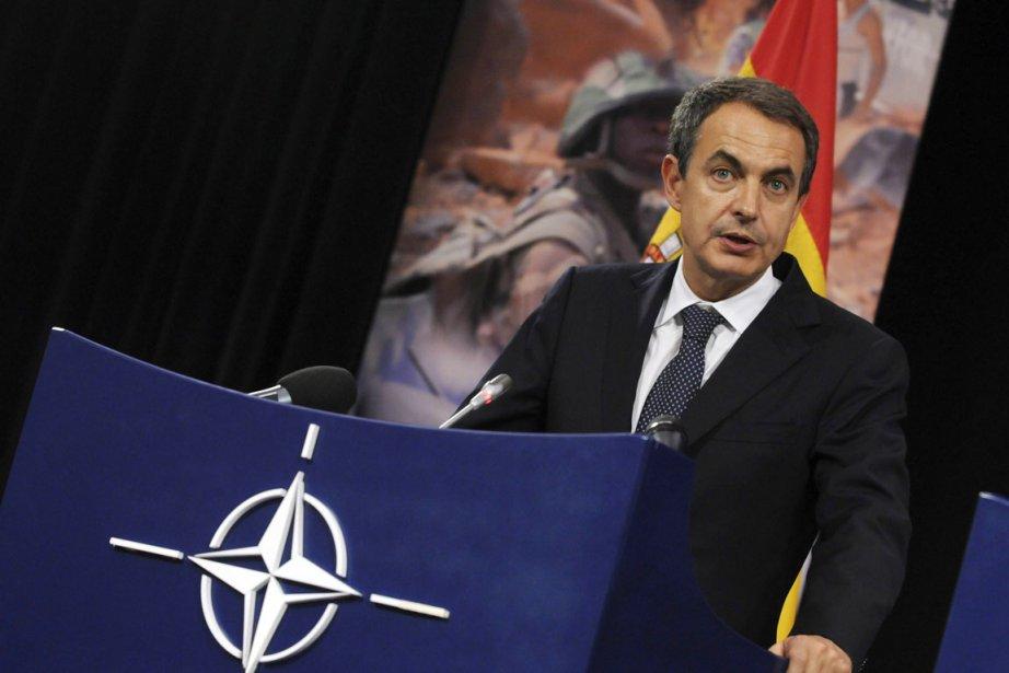 Les quatre navires, équipés du système de combat... (Photo: Thierry Charlier, AFP)