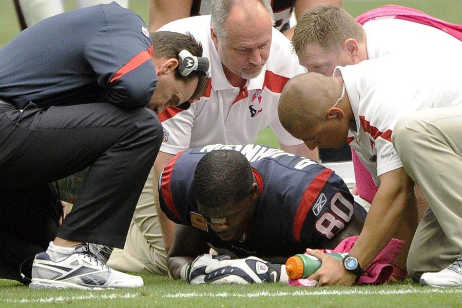 Andre Johnson s'est blessé durant le match de... (Photo: AP)