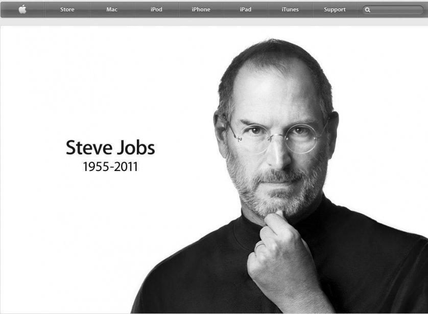 La page d'accueil du site internet d'Apple affichait...