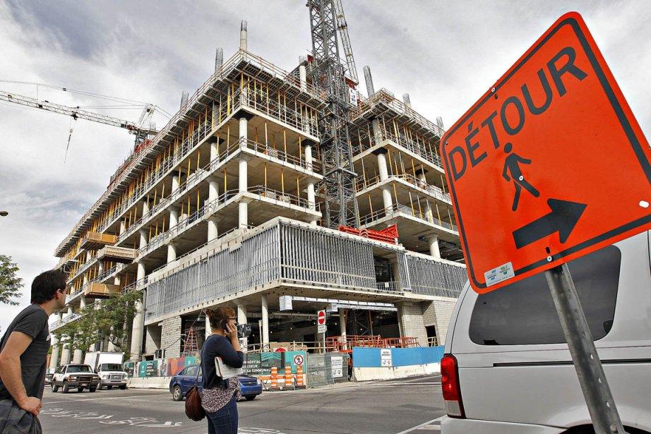 Le chantier de construction du nouveau CHUM, au... (Photo: Patrick Sanfaçon, La Presse)