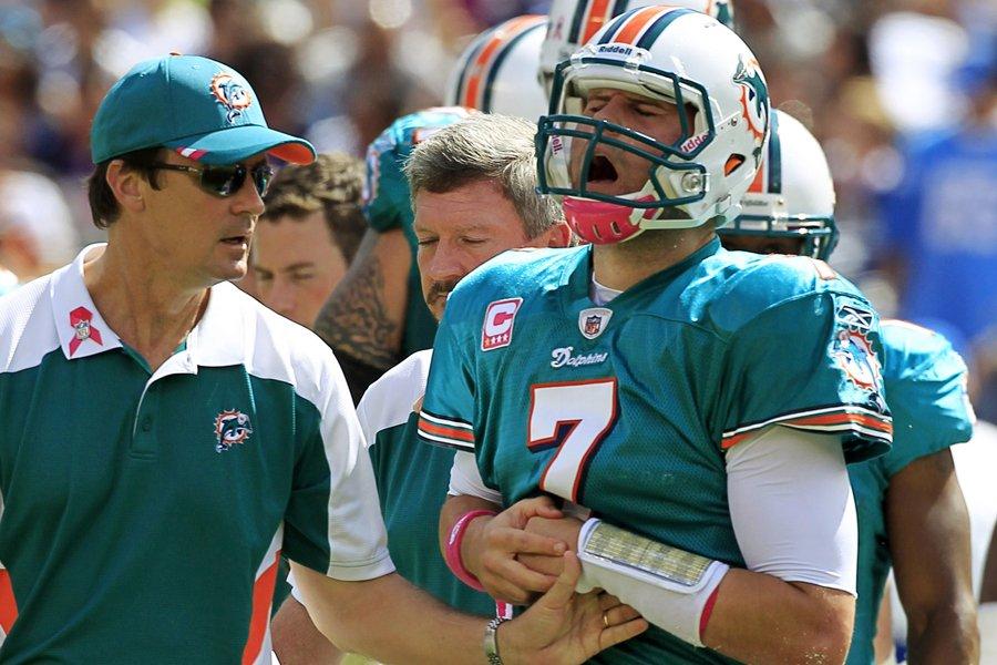Le quart des Dolphins de Miami, Chad Henne,... (Photo: Reuters)
