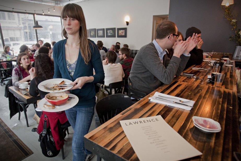 Le Lawrence, un café du Mile-End dont le... (Photo: David Boily, La Presse)