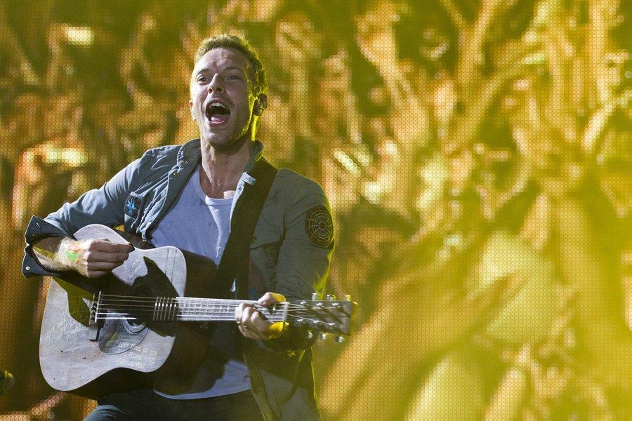 Chris Martin, le chanteur du groupe Coldplay.... (Photo: AP)