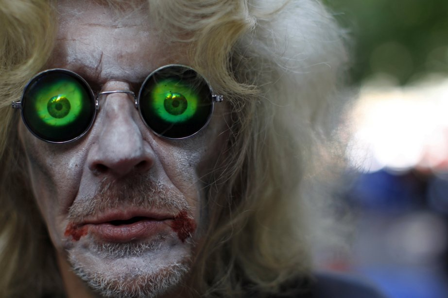 """Un des participants du mouvement """"Occupy Wall Street""""... (Mike Segar  (REUTERS))"""