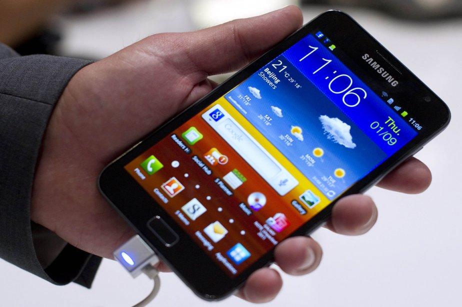Le téléphone Galaxy Note de Samsung.... (Photo: Odd Andersen, AFP)