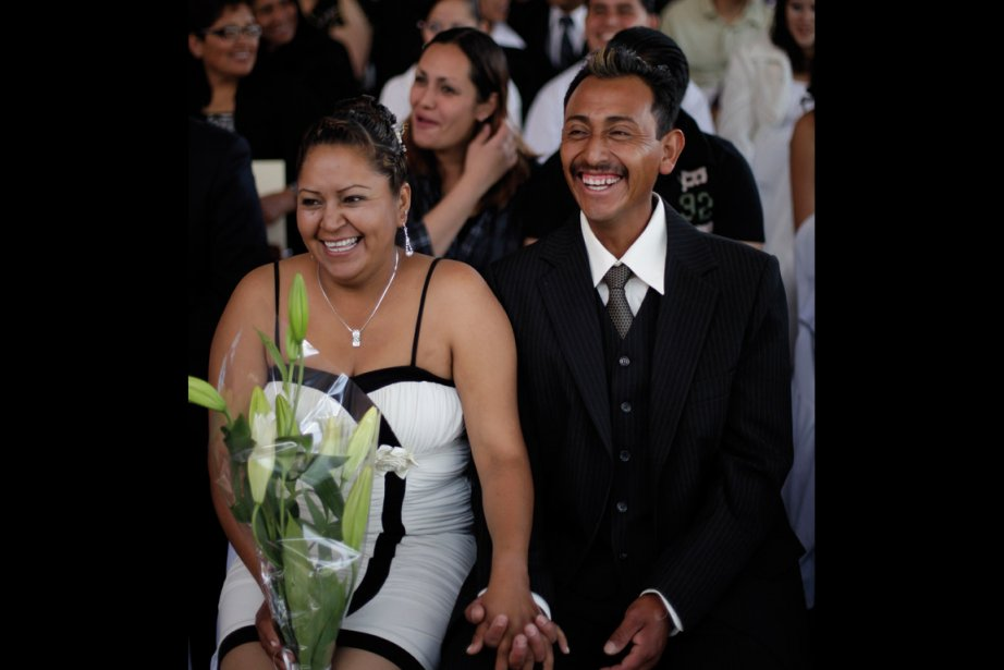 Sur les 33000 mariages célébrés dans les deux... (Photo: Jorge Dan Lopez, Reuters)