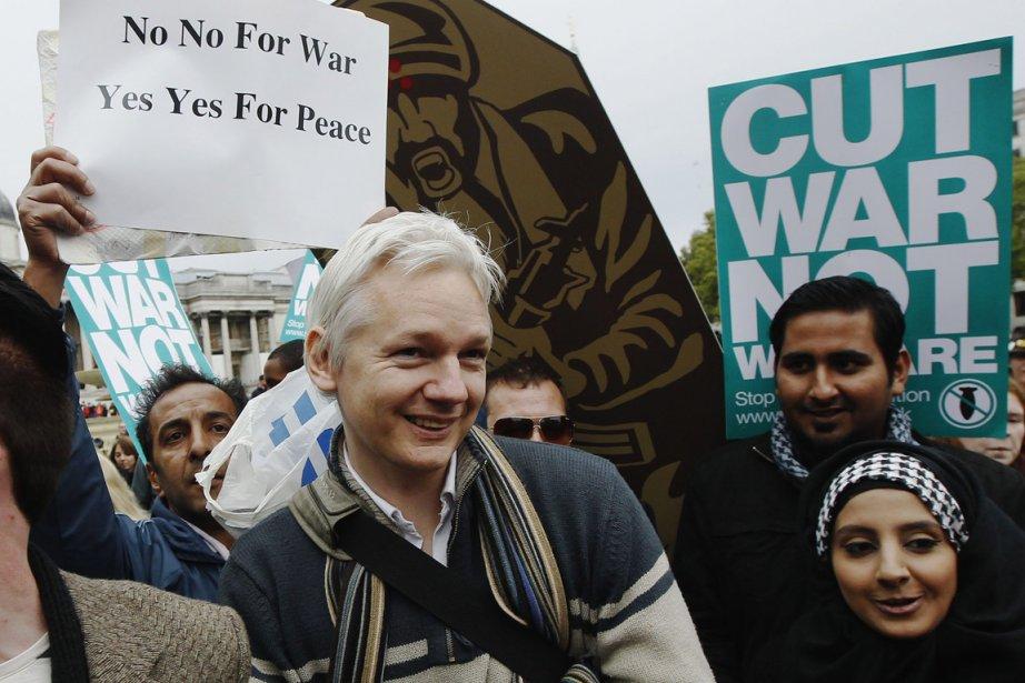 Le fondateur de WikiLeaks Julian Assange a participé... (Photo: Reuters)