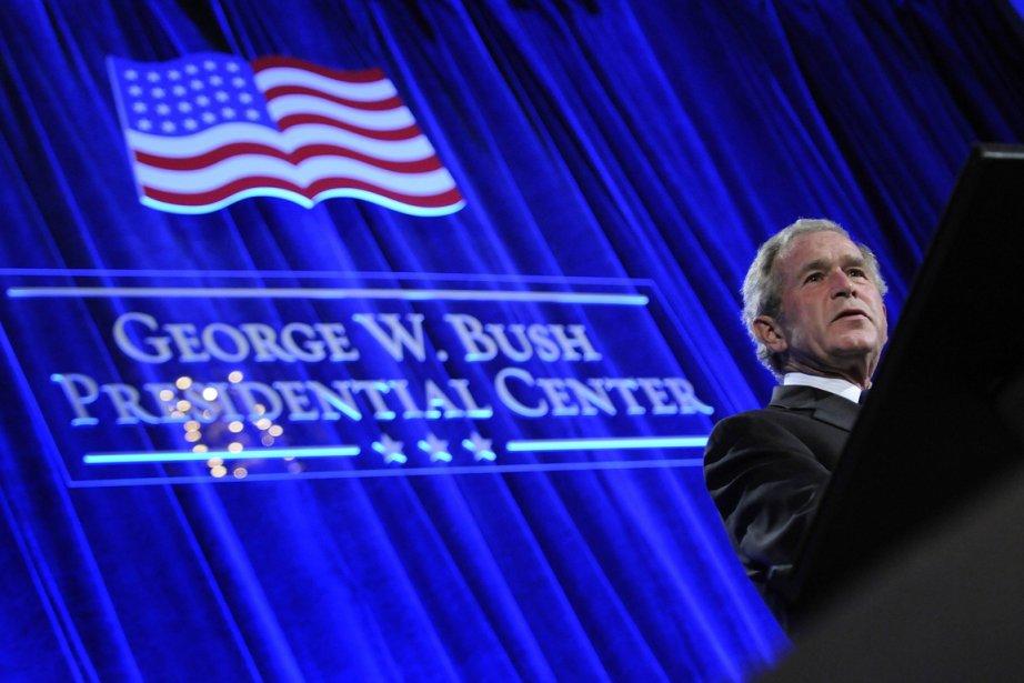 George W. Bush lors d'une conférence de presse... (Photo: Jonathan Ernst, Reuters)