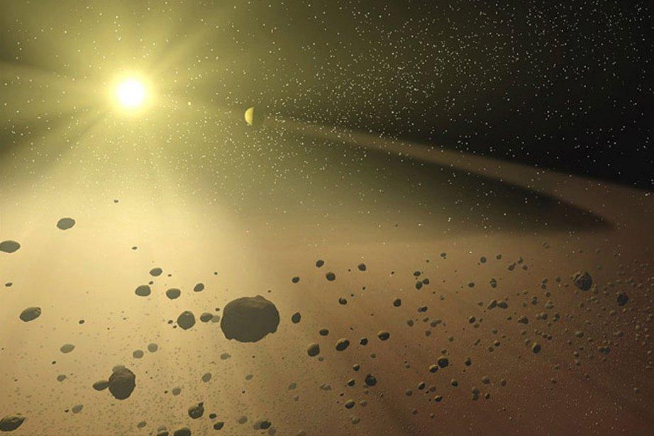 Des astéroïdes.... (Illustration NASA/JPL-Caltech)