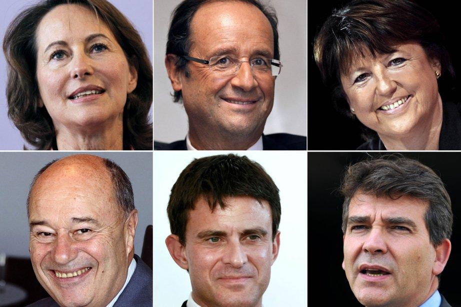 Les six candidats en lice pour représenter le... (Photo: AFP)