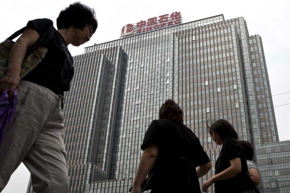 Le siège social de Sinopec à Beijing en... (Photo AP)