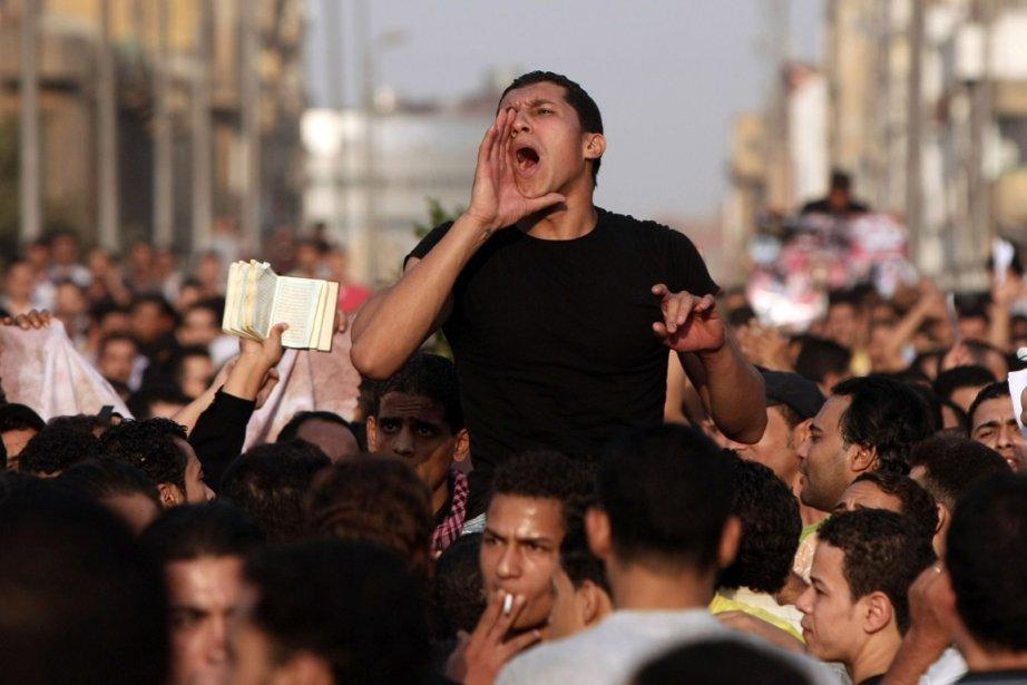 Des Égyptiens de confession chrétienne ont manifesté à... (Photo: AFP)