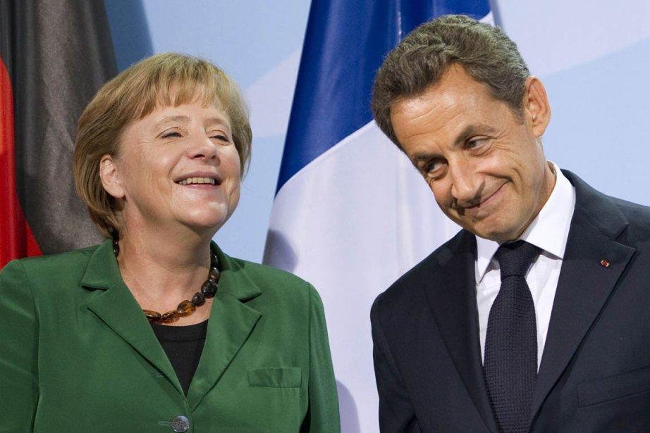 Le président français Nicolas Sarkozy a rencontré, dimanche,... (Photo: Johannes Eisele, AFP)