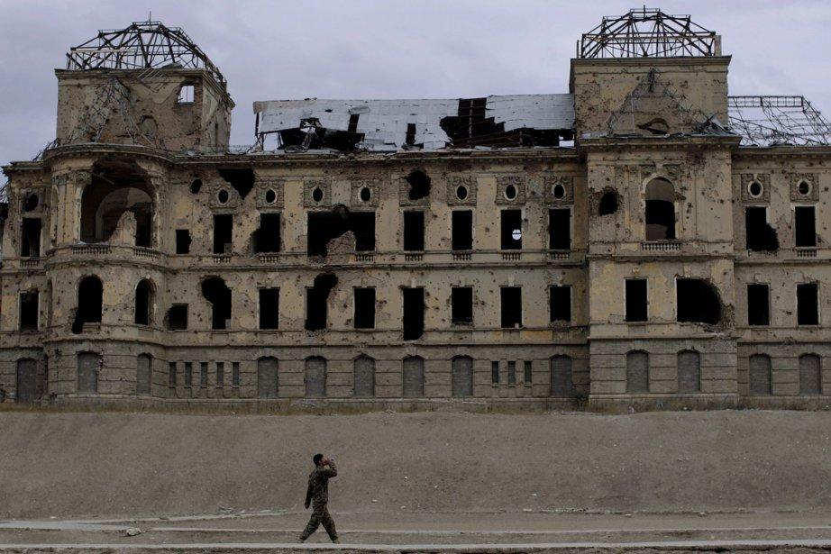 Le Palais de Darul Aman à Kaboul est... (Photo: AP)