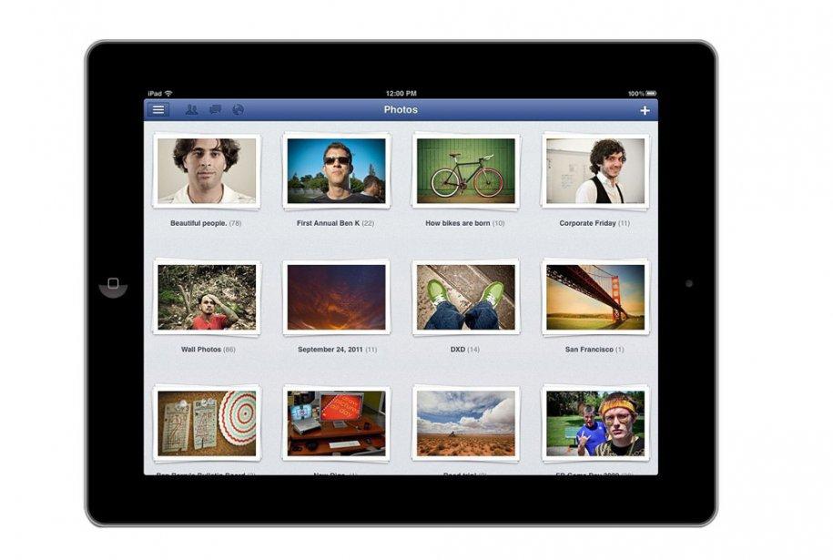 L'application Facebook pour iPad fait une grande place...