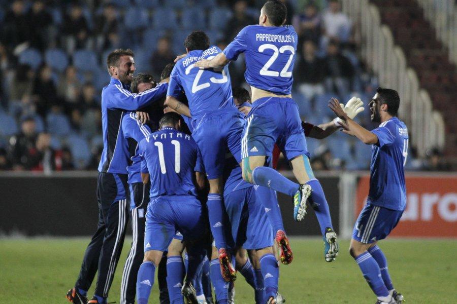 La Grèce a remporté une victoire de 2-1... (Photo: Reuters)