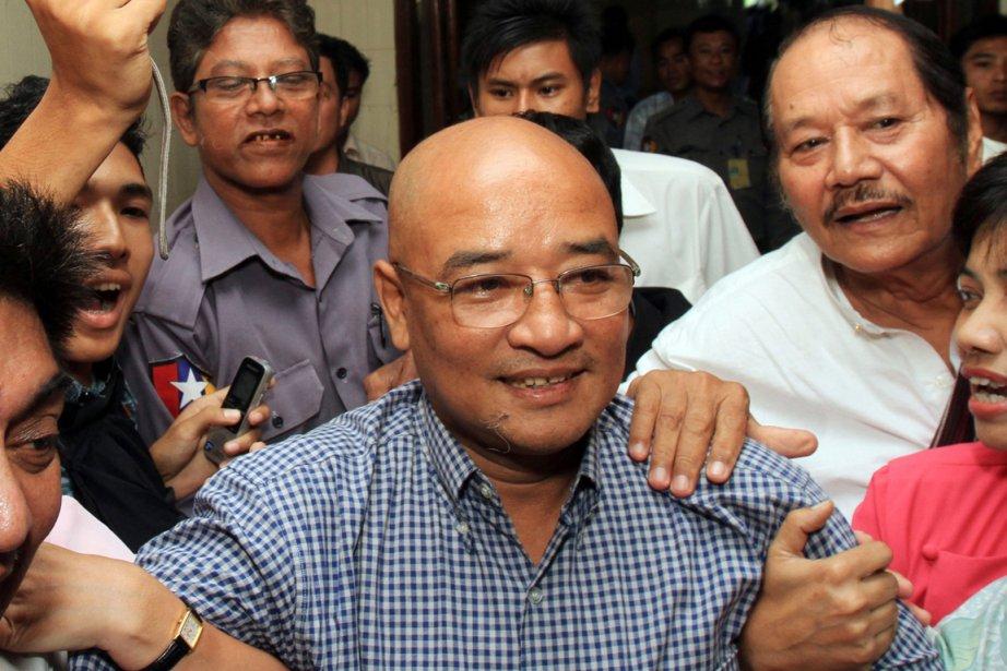 Interrogé sur un message qu'il voudrait délivrer au... (Photo: Khin Maung Win, AP)
