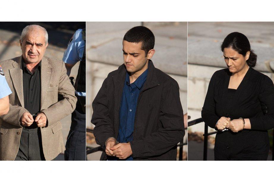 Mohammad Shafia, sonfils Hamed Mohammad Shafiasa et sa... (Photos: Lars Hagberg, PC)