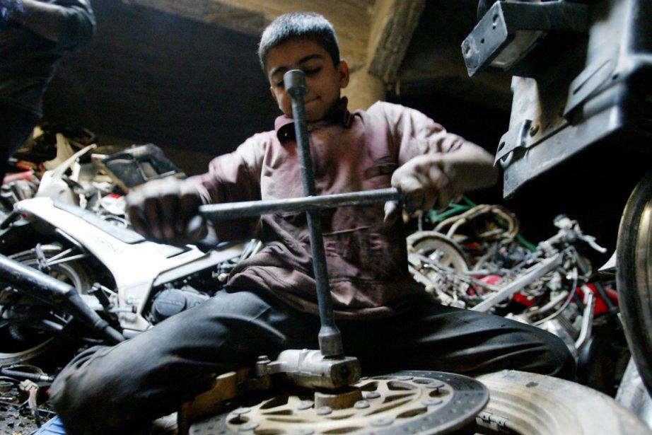 Le travail des mineurs est un phénomène qui... (Photo: Ali Yussef, Archives AFP)