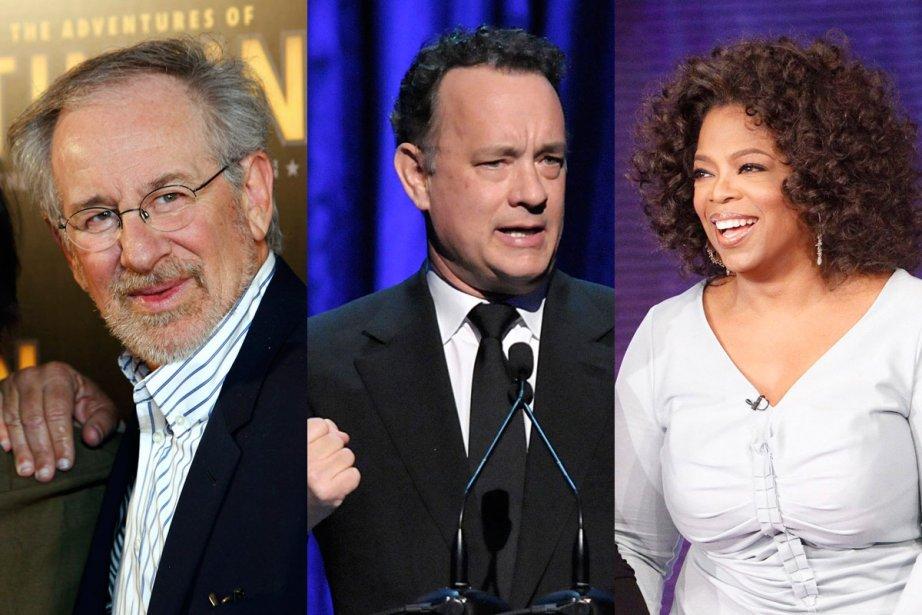 Le cinéaste Steven Spielberg, l'acteur Tom Hanks et la «papesse»... (Photos: AP)
